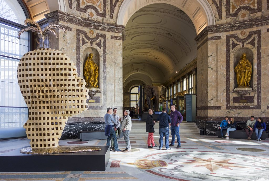 Na een jarenlange renovatie en heroriëntering ging het AfricaMuseum in Tervuren eind vorig jaar weer open. BELGA/BELPRESS
